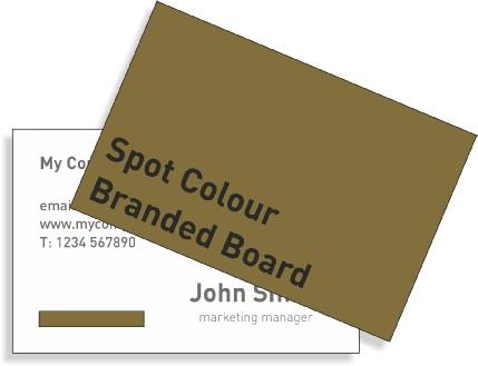 Spot colour business cards colourmoves